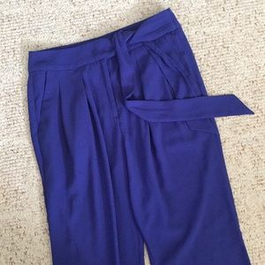 Jenifer Lopez Tie Waist Ankle Pants